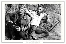 PAUL NEWMAN ROBERT REDFORD AUTOGRAPH SIGNED PHOTO PRINT BUTCH CASSIDY