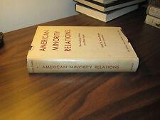 American Minority Relations James W Vander Zanden HC 1963 FREE SHIP