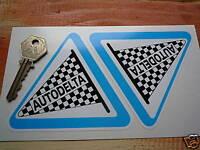 "AUTODELTA Classic ALFA ROMEO Racing Car STICKERS 4"" Pair Performance Parts Race"