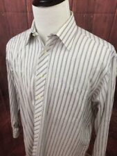 TED BAKER London Men's Striped Sz. 16.5 32/33 Dress Shirt Button A272