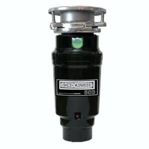 Bonecrusher 500 Kitchen Sink Waste Disposal Unit (20214) - Black Stainless St...