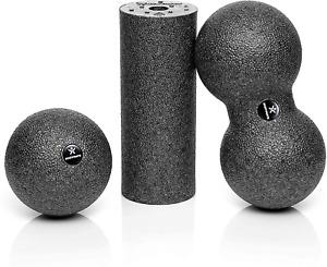 BODYMATE Faszien Mini-Set Mini-Faszien-Rolle L15xD6cm Ball D8cm und Duo-Ball 8cm