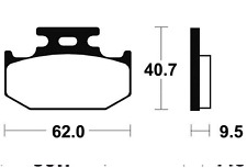 Plaquettes de frein Bendix MA148 Organique pour SUZUKI