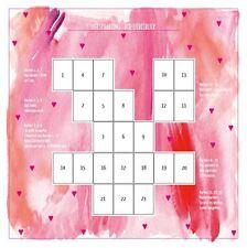 Plantilla de apoyo La Visión Del Amor para Lenormand Tarot Tarjetas de oracle