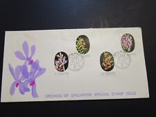 Singapore 1976 Orchids Series FDC / Surface Sratches / Flap Damage - Z3633