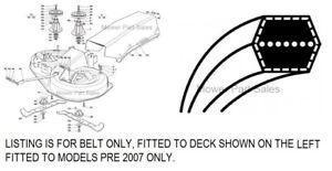 "Honda Cutter Belt Fits 36"" / 92cm Decks HF2113 / HF2114 S / HF2315 80305-Y09-003"