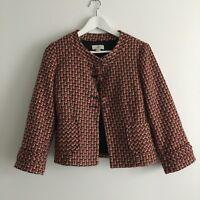 Ann Taylor Loft Women's winter  Wool Blend Plaid Blazer Jacket Sz 4 Work Career