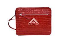 4040 iPAD Red Crocodile Print Hand Made Bag Good Quality Real Leather iPAD Pouch