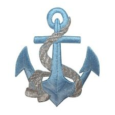 ID 2621 Anchor Nautical Boat Ship Marine Embroidered Iron On Applique Patch