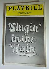 Playbill Singin' in the Rain Music Hall Fair Park Dallas TX 1995