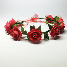 Beauty Flower Headband Hollow Elastic Hair Band Party for Girls Wedding Decor