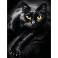 5D Full Drill Animal Cat Diamond Painting Cross Stitch Kits Embroidery Art Decor