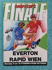 1985 - CUP WINNERS CUP FINAL PROGRAMME - EVERTON v RAPID VIENNA - ORIGINAL