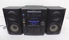 Sony Mhc-Rg4Sr Am/Fm Stereo 3-Cd Changer Dual Cassette Game Sync Hi-Fi System