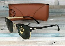 RayBan RB3716-187 CLUBMASTER METAL GOLD TOP BLACK green 51 mm Unisex Sunglasses