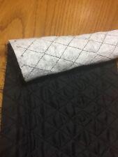 Stoffa nera tessuto FODERA trapuntato per giacca piumino in poliestere AL METRO