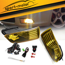 for 2005-2010 Scion TC Yellow Bumper Fog Lights Front Driving Lamps+Switch+Bulbs