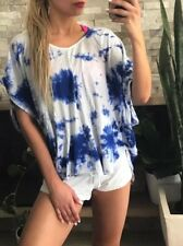 ❤️❤️ Women's AQUABELLA Brand Size M 10 Tie Dye Relaxed Fit Boho Top FREE POST❤️