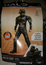 Halo Deluxe Muscle Costume Master Chief  Boys 4-6 NEW
