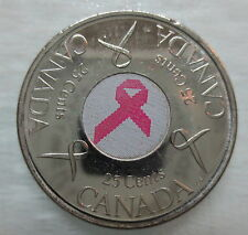 2006 CANADA 25¢ BREAST CANCER PINK RIBBON BRILLIANT UNCIRCULATED