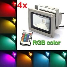 4X 10W RGB LED Flood Light Spotlight Changing Home Garden Hotel 16 Color IP65