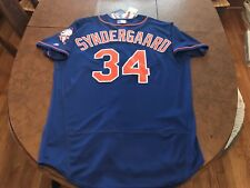 Noah Syndergaard Jersey Mens 48 Majestic NY Mets All Star World Series Thor