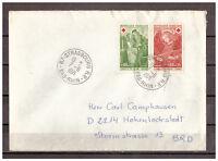 Frankreich, MiNr 1733 - 1734 Straßburg Strasbourg nach Hohenlockstedt 07.06.1971