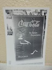 Vintage COCA-COLA PHOTO from COLA CALL Newsletter Of Vintage Ad @ Soda Fountains
