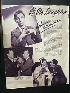 SIR NORMAN WISDOM - LEGENDARY COMEDY ENTERTAINER - SIGNED MAGAZINE PAGE