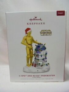 2019 Hallmark Keepsake Ornament C-3PO and R2-D2 Peekbuster Star Wars B3