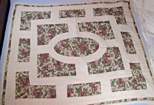 """VERY VERY OLD ~ Vintage ~ Victorian Theme ~ Hand Sewn ~ Quilt 54"""" x 45"""""""