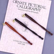 Antique Wood Oblique Calligraphy English Copperplate Script Dip Pen Nib Holder
