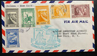 1941 Bolama Portuguese Guinea First Flight Airmail Cover FFC To New York USA