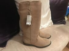 Next girls long suede boots - size 13