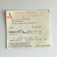 Motorhead - 13/04/1991 Manchester Apollo concert Ticket Stub Lemmy Kilmister