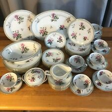 Noritake China Priscila Pattern 5310 Dinner Plates, Cups Saucers Serving Pieces