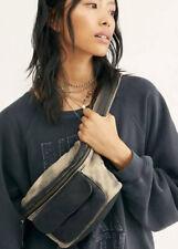 NEW Free People Charlie Acid Wash Fanny Pack Sling Belt Bag Handbag