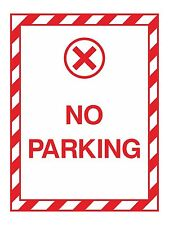 1x No Parking Warning Sticker Decal for Safety Door Box Home Work Car Truck