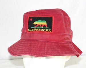 California Republic Red Bucket Hat Adult  S/M