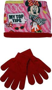 Disney Minnie Mouse RH4123 Girls set Gloves and Snood