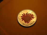 Canada 2010 Coloured Thank You 25 Cent Rare Gem BU Beauty Coin IDJ318.
