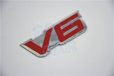 1x V6 Emblem Fender Hood Car Pick Up V6 6 Cylinder Engine Aluminum Emblem Badge