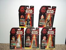 LOT OF 5 HASBRO--STAR WARS EPISODE I FIGURES (NEW)