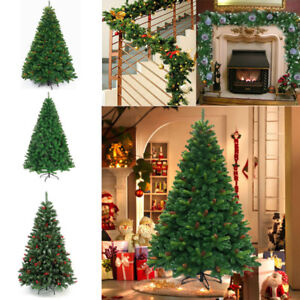 Christmas Tree Pines Green Artificial Tree Metal Stand 4-8 ft Outdoor Home Decor