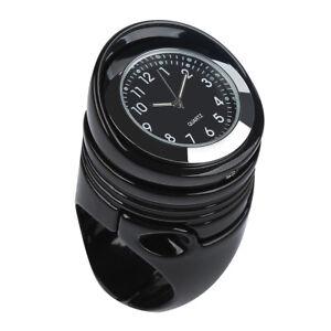"Universal Moto 1 1/4"" Handlebar Mount Clock Black For Harley Cruiser Chopper"
