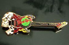 HRC HARD ROCK CAFE Stockholm Halloween 1999 Skull Guitar le750