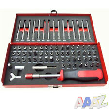 75Pc Security Screwdriver Bit Tool Set Flat Hex Spline Star Pozi Torx Phillips
