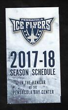 Pensacola Ice Flyers--2017-18 Pocket Schedule--SPHL
