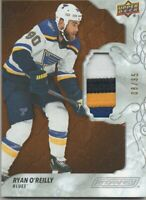 19-20 UPPER DECK ENGRAINED RYAN O'REILLY GAME USED PATCH 4 COLOR /35