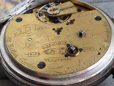 Chester Argento Cronografo Orologio da taschino 60mm, PLATT Bridge, ha buon equilibrio.